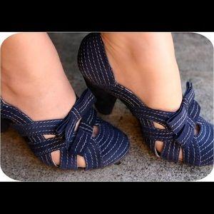 Anthropologie Seychelles vintage heels pinup sz 8